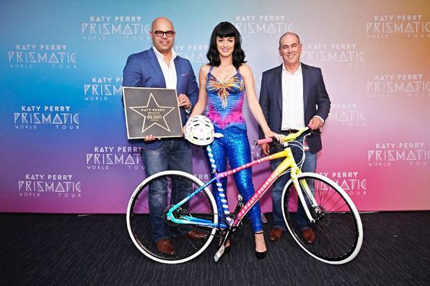 Pop Superstar Katy Perry S Custom Painted Bicycle