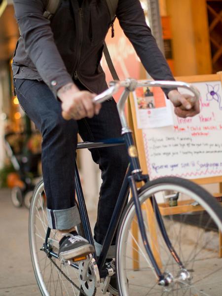 Upright Cyclist Selvage Riding Denim