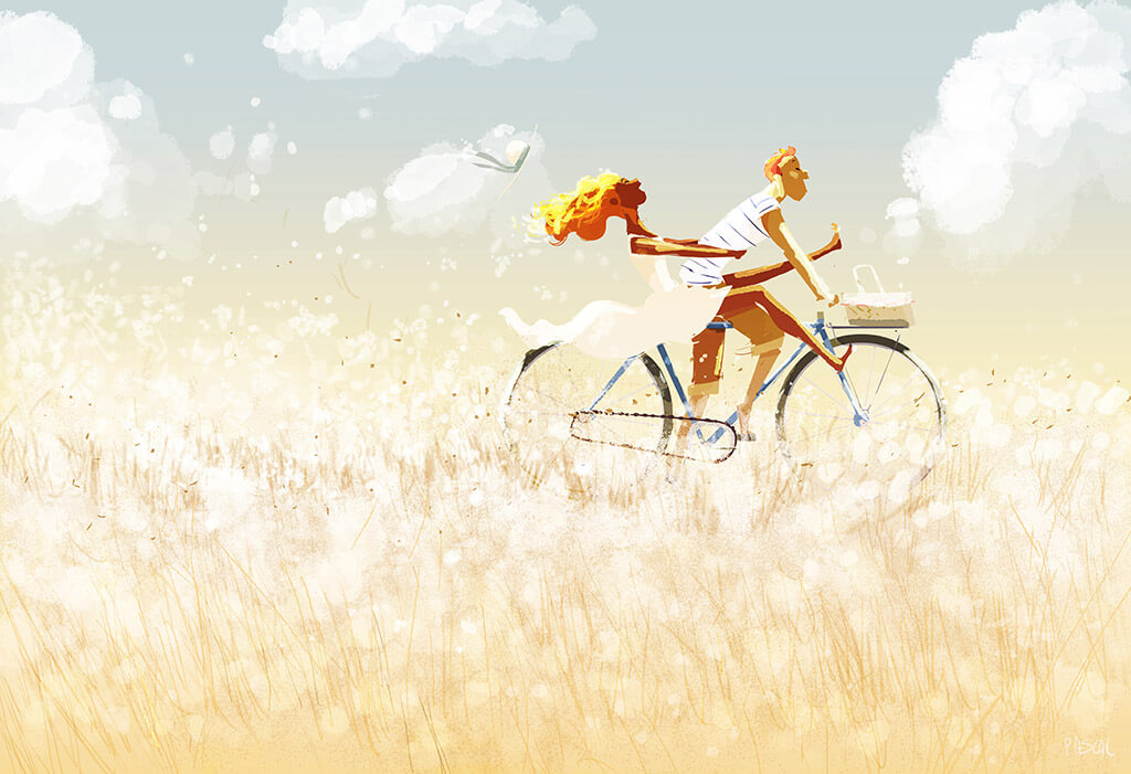 Pascal Campion's Beautiful Bicycle-based Art