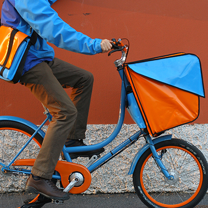 Bicicapace: A Stylish and Compact Cargo Bike