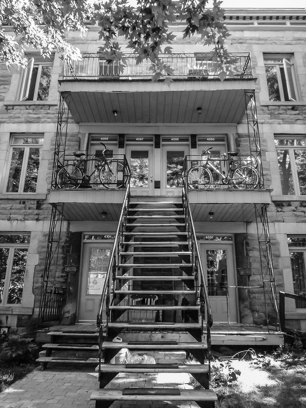 The quintessential Montreal apartment entrance. Photo by Chris Bruntlett