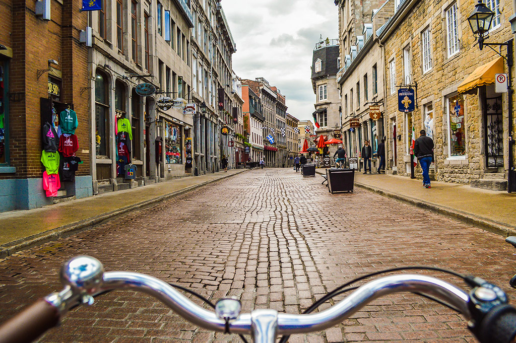 A little hard on the bum, but cycling the cobbled streets of Old Montreal is a must! Photo by Chris Bruntlett