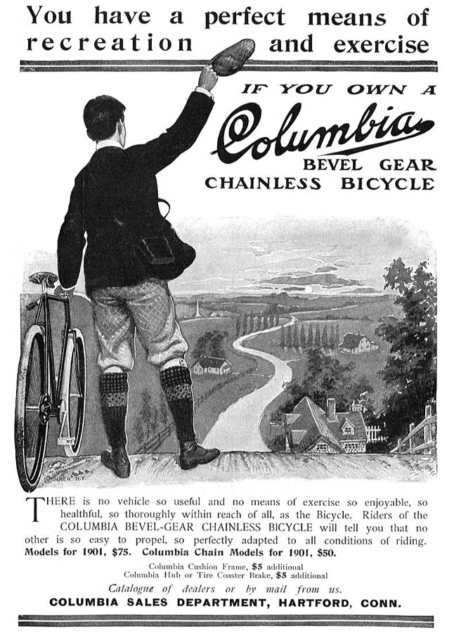1901 Columbia. One of Langley's favorite ads.
