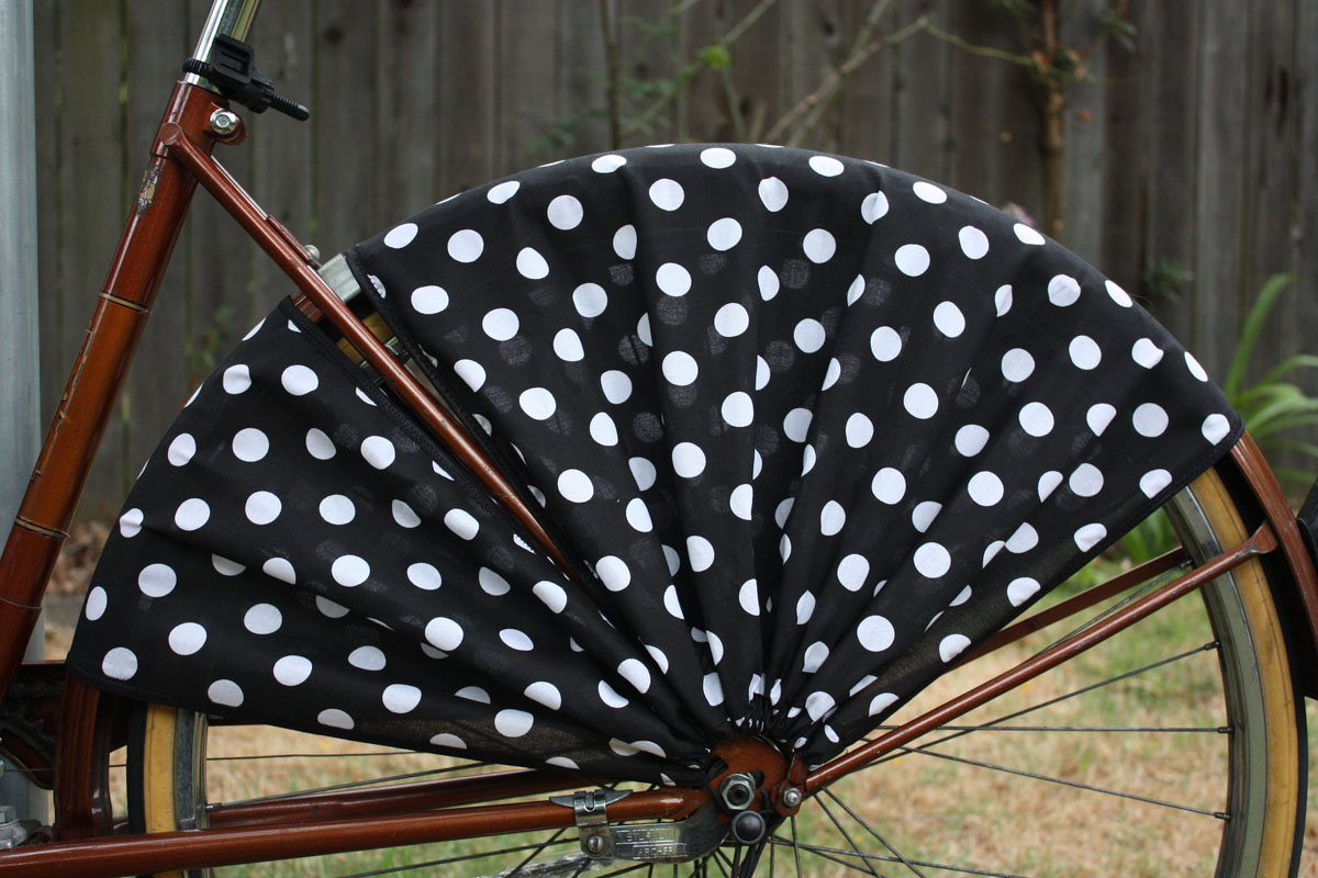 Frill Ride Itsy Bitsy Black Bicycle Skirt Guard