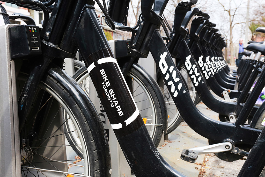 Bike Share Toronto will keep you moving throughout the city. Photo by Yvonne Bambrick