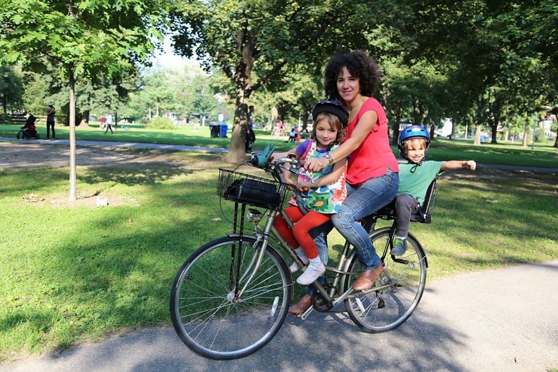 Riding a Bike with Two Children with Lisa Logan
