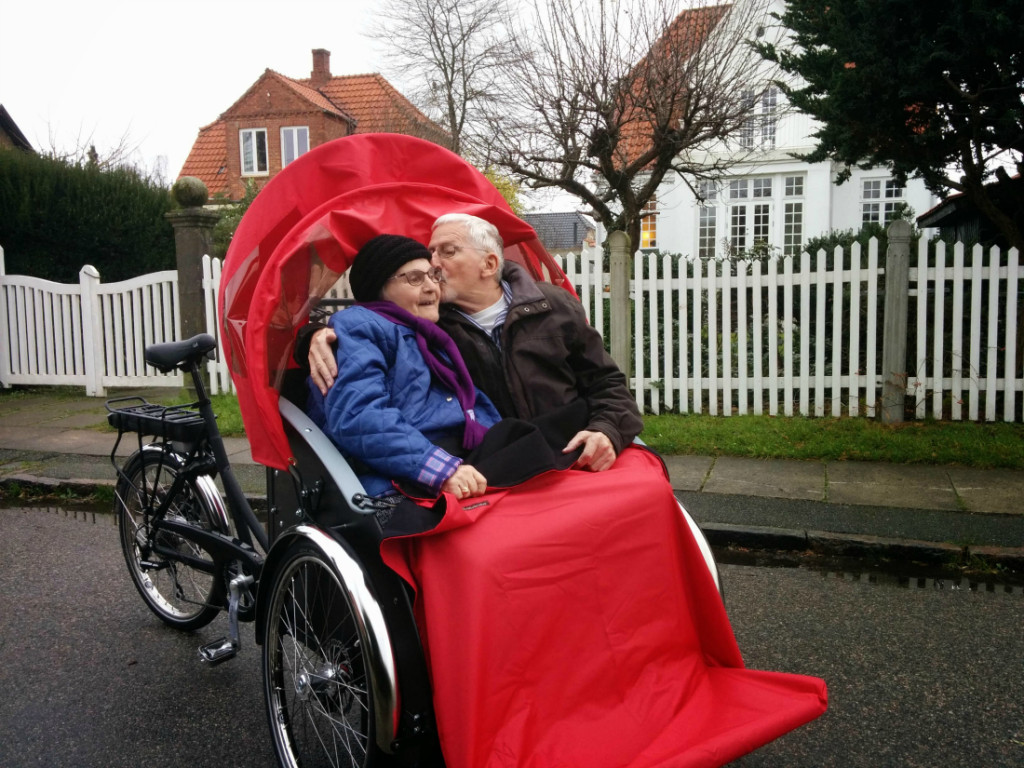 "Ole Kassow runs an initiative called Cycling Without Age in Denmark. Recently, a 97-year-old participant told him ""I'm not made of sugar, you know,"" after Kassow suggested rescheduling a ride on a rainy day. Photo by Ole Kassow"