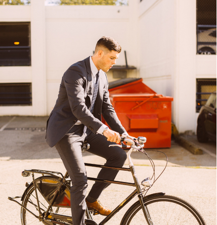Riding a Bike in a Suit Made Easy (How To)