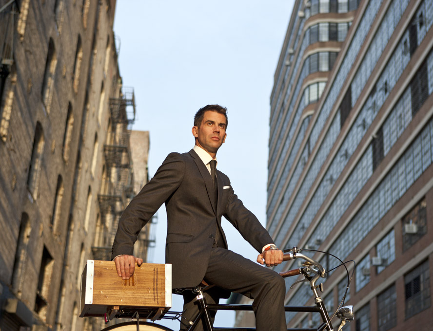 How To Ride a Bicycle in a Suit
