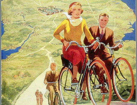 A Bygone Era in Bicycle Advertising