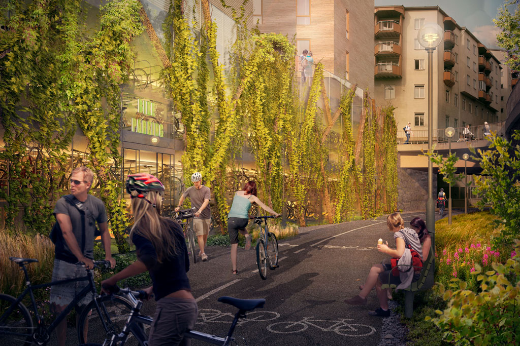 Stockholm is Building a 700-Unit Bike Parking Garage