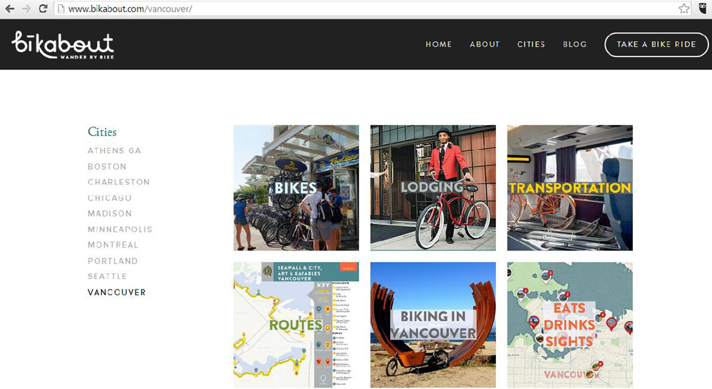 Bikabout is a One-stop Resource for Bike-friendly Travel Planning