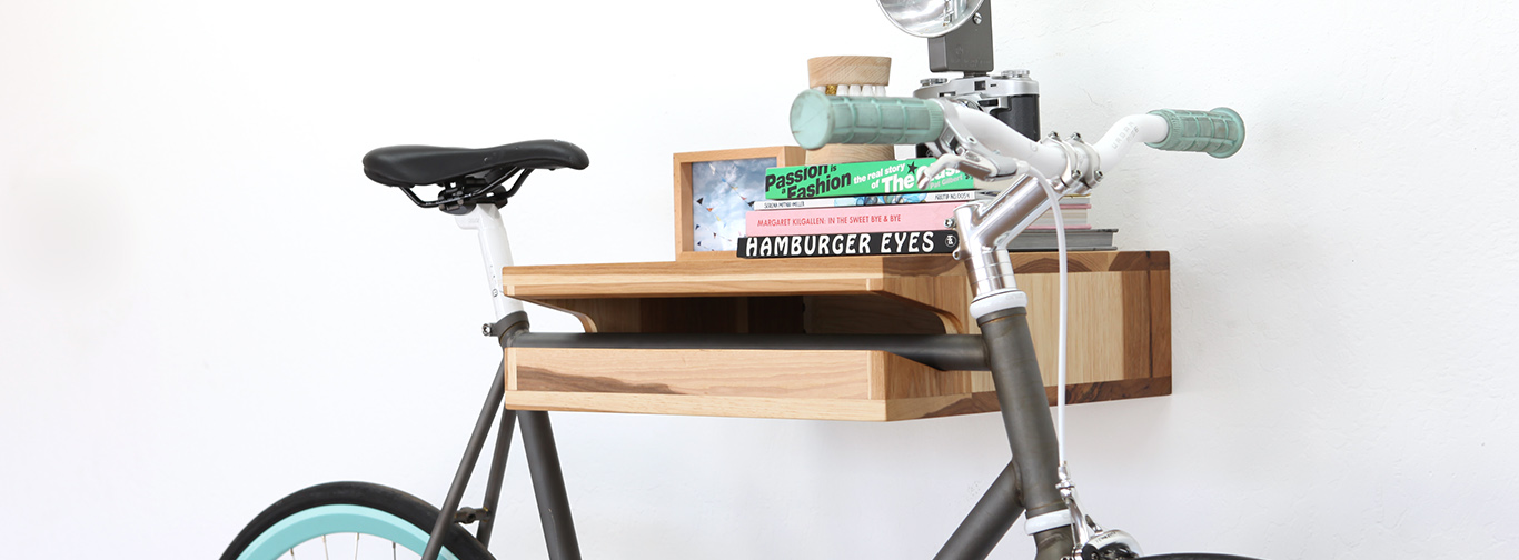 Storage Knife Saw Bike Shelf Hero
