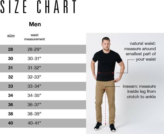 DUER Size Chart