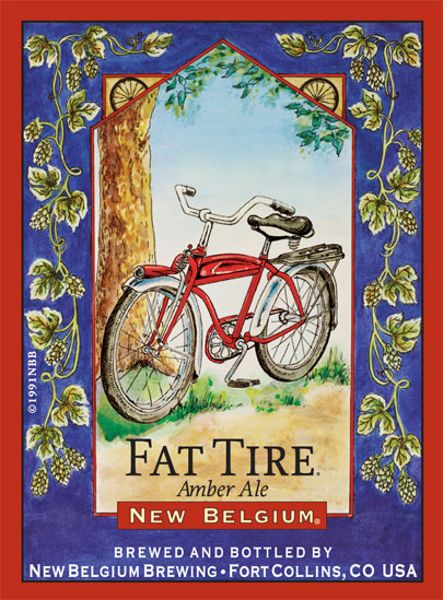 New Belgium Brewing Fat Tire Label