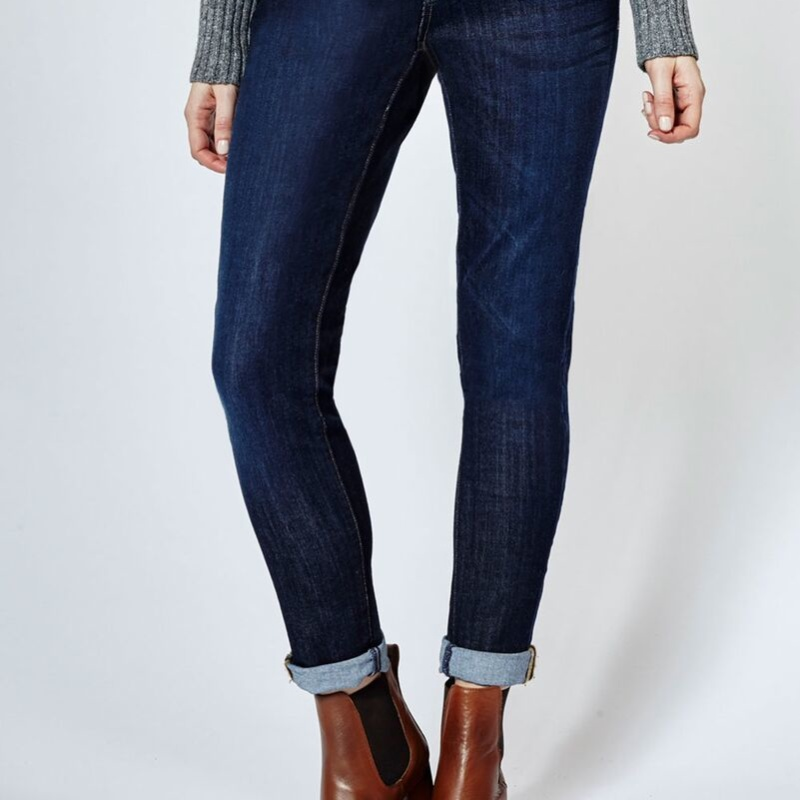 Dish and DUER Relaxed Skinny Jean classic indigo bicycle jeans