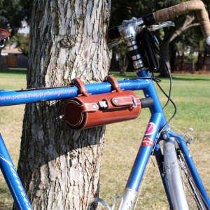 Pedal Happy Leather Wine Bottle Holder