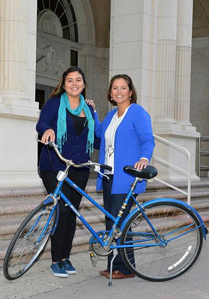 (l-r) Ea Lizette Garcia, City Planner, and Dr. Rose Gowen, City Commissioner.