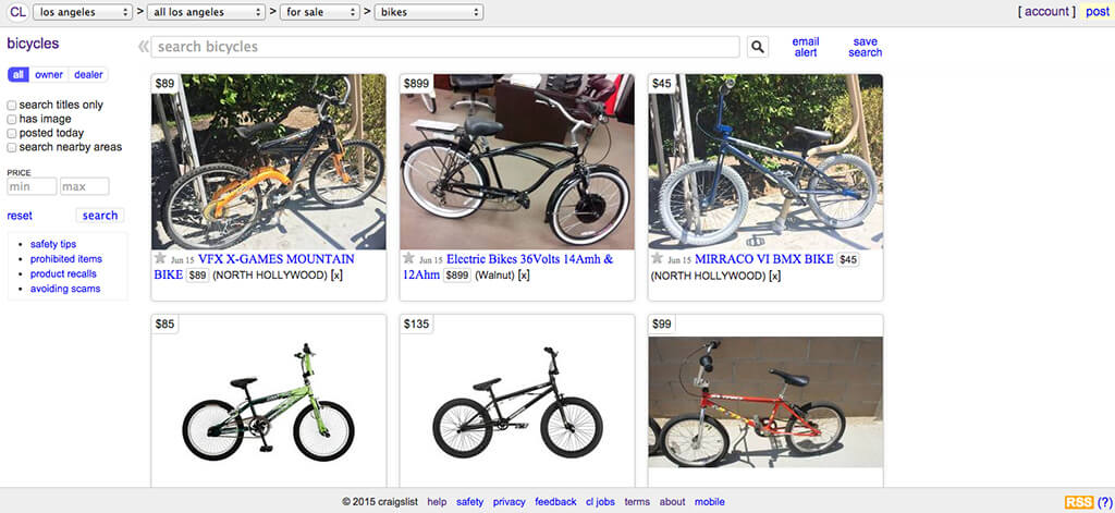 How to Buy a Bicycle on Craigslist