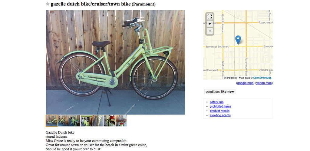 How to Sell Your Old Bicycle on Craigslist