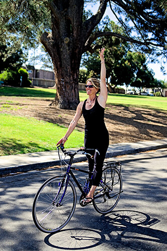 Yoga for cyclists - standing pose