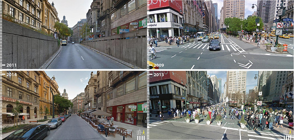 20 Amazing Public Space Transformations Captured on Google Streetview