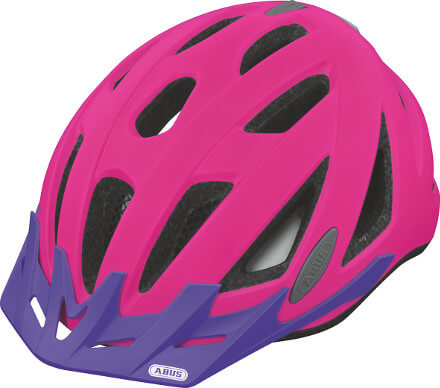 ABUS Urban Neon Helmet, Pink and Purple helmet
