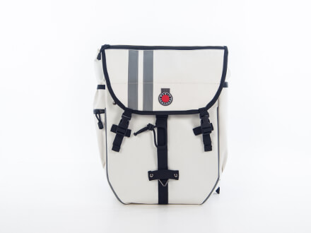 Banjo Brothers Waterproof Pannier/Backpack, in white