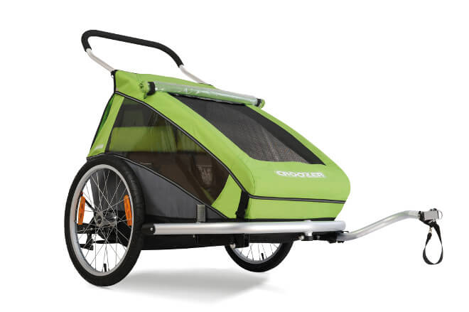 Croozer Kid for 2, Green Croozer trailer
