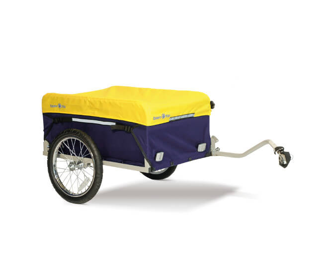 Croozer Kiddy Van CArgo Trailer & Handcart, Yellow Croozer Trailer