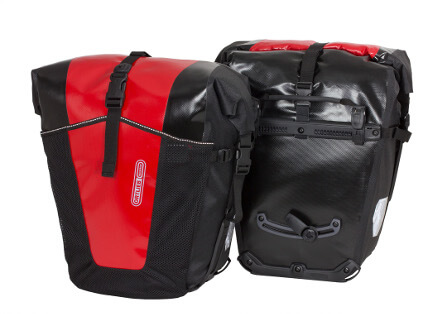 Ortlieb Bakroller Pro Classic Bag in red and black
