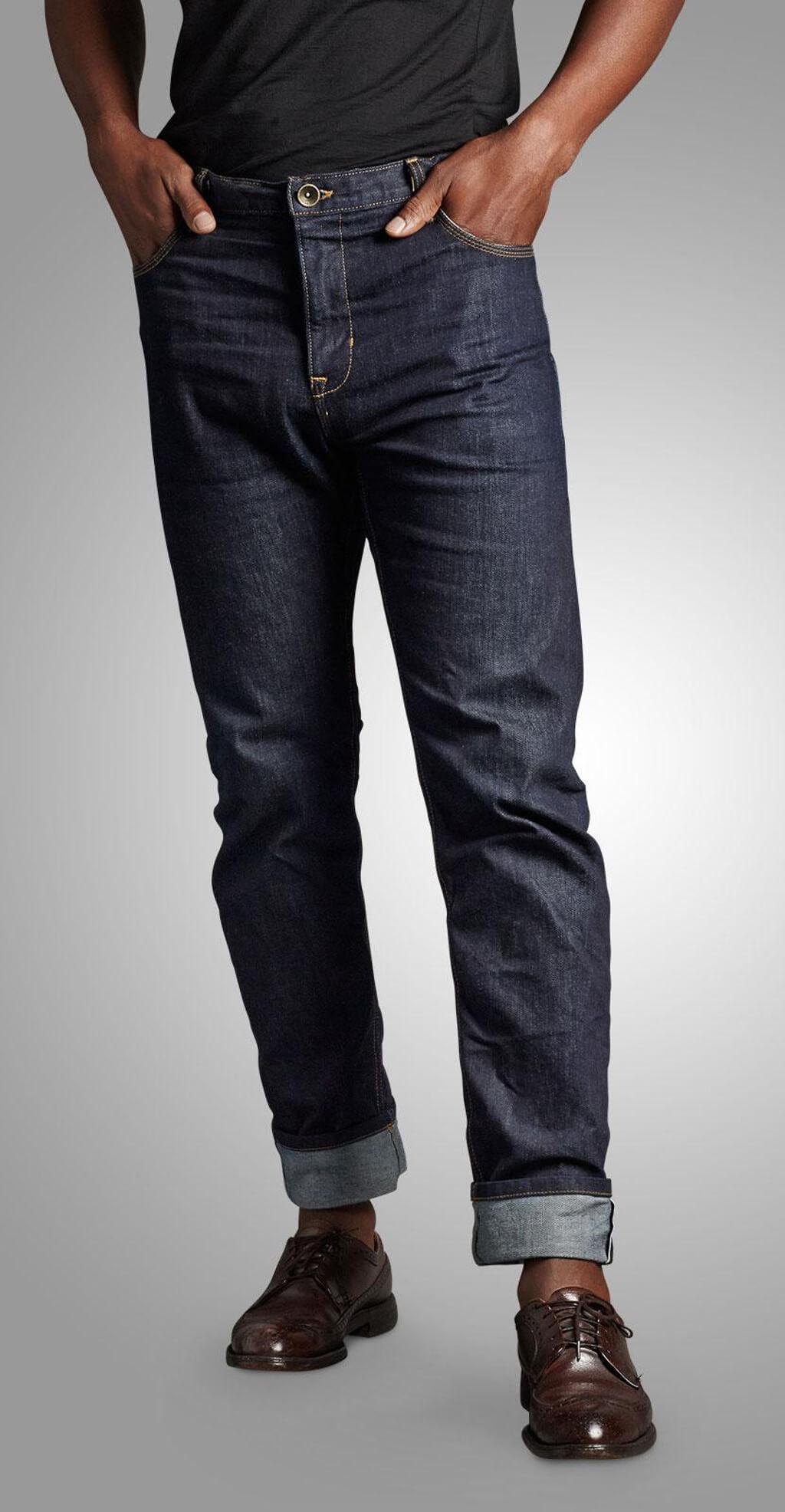 Men's Selvage Denim, Man wearing jeans