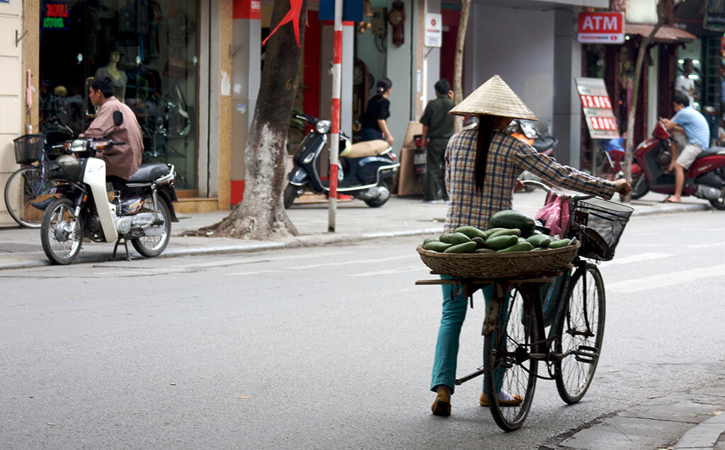 Biking in Hanoi, Vietnam