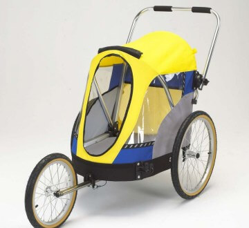 Wike Wagalong Pet Trailer, Blue and Yellow