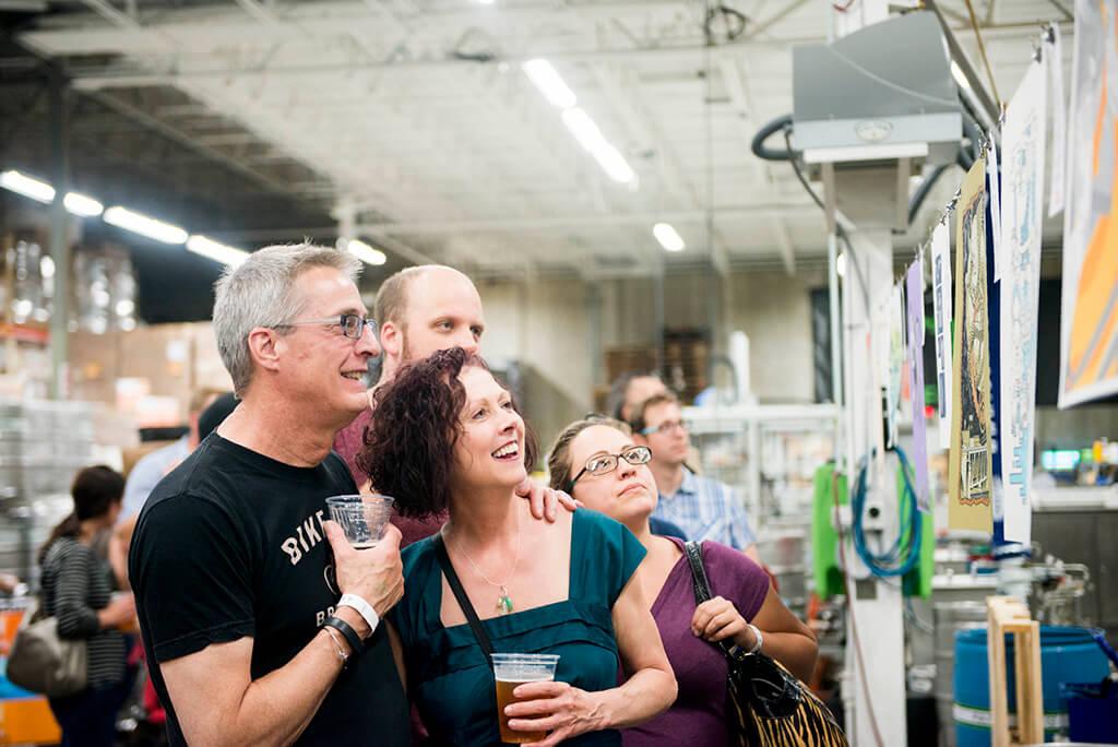 At the Minneapolis-Saint Paul ARTCRANK event. Photo by Rhea Pappas.