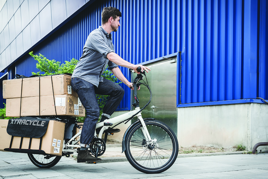 Tern and Xtracycle's Cargo Node, the world's first folding cargo bike. Photo courtesy of Tern.