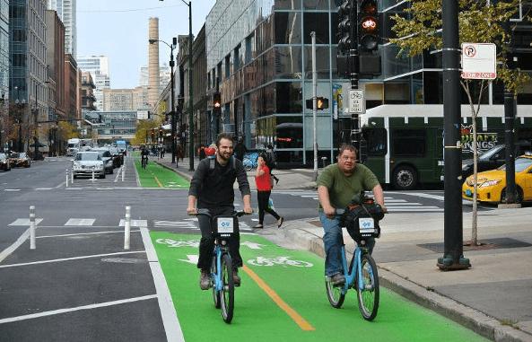 Biking in Chicago