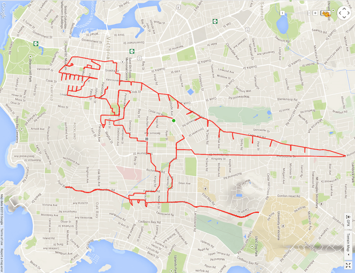 An Artist Bikes Around to Create Large-Scale Drawings with a GPS Tracker