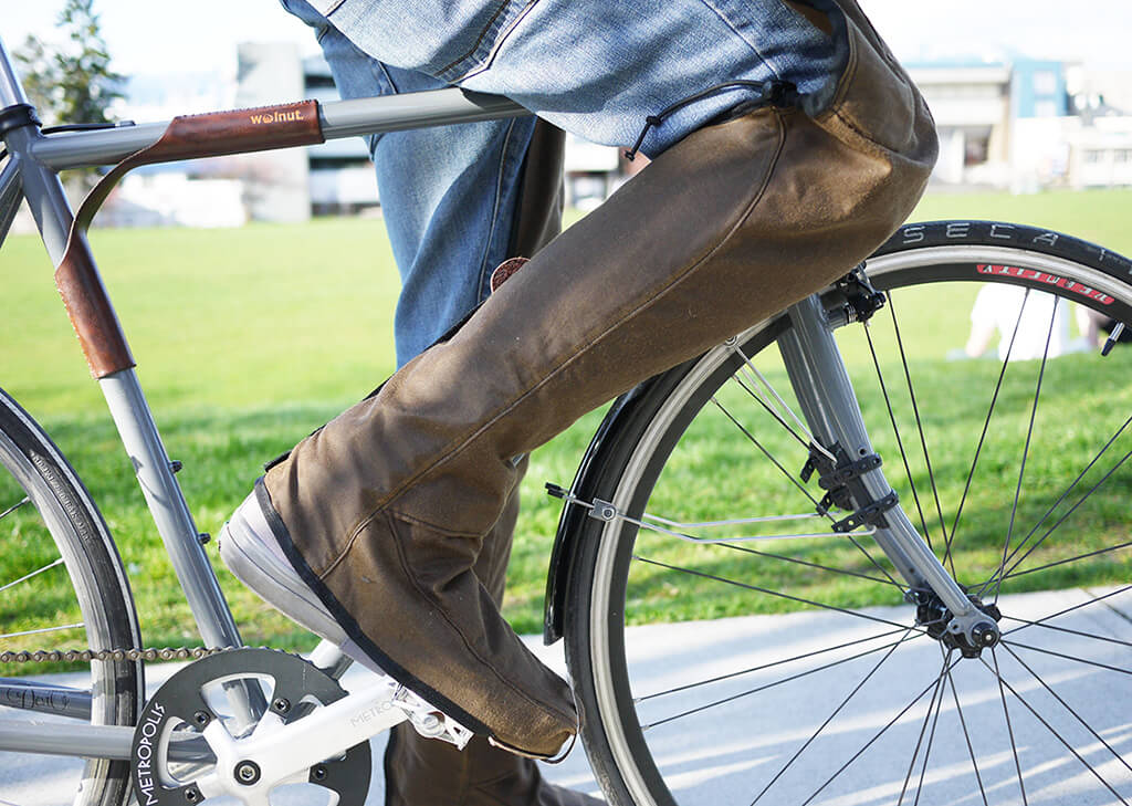 Would You Wear These Waxed Canvas Rain Chaps?