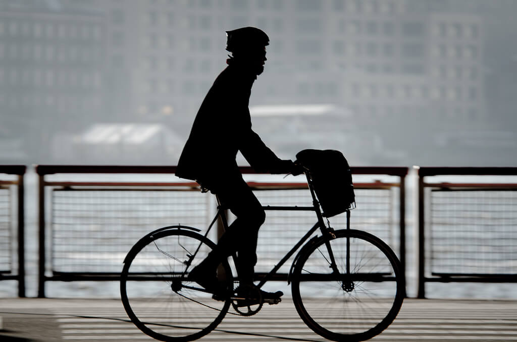 Bicycle commuting health benefits