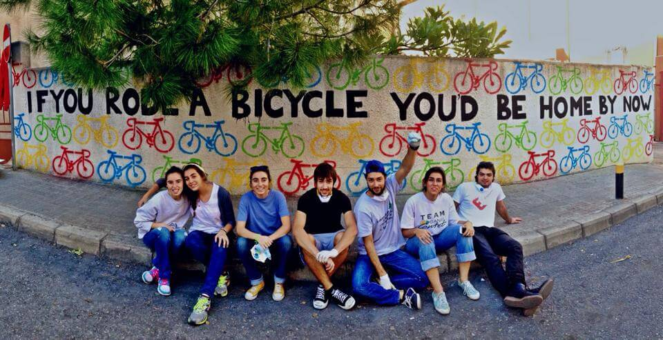 Colorful Street Art Encourages Beirut Residents to Ride Bikes
