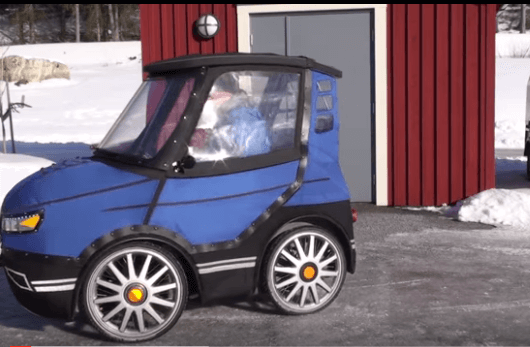 "A Swedish Inventor's ""Bicycle-Car"" Could Be the Winter Riding Solution"