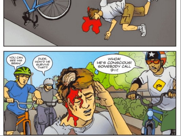 Gory Comic Books Warn Phoenix Children About Death by Bike