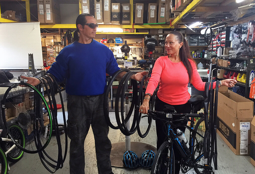Regulars at their local bike shop - ADT Bike and Skate Shop in Queens<a href=