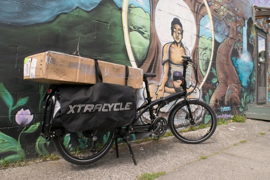 The Tern Cargo Node is the world's first full size cargo bike that folds down small enough to fit in an elevator. Photo by Hilary Angus