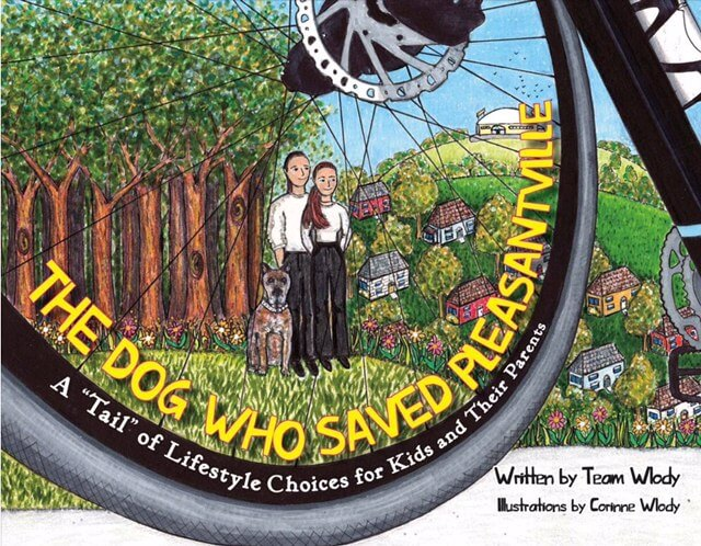 Children's book about bicycle and healthy living