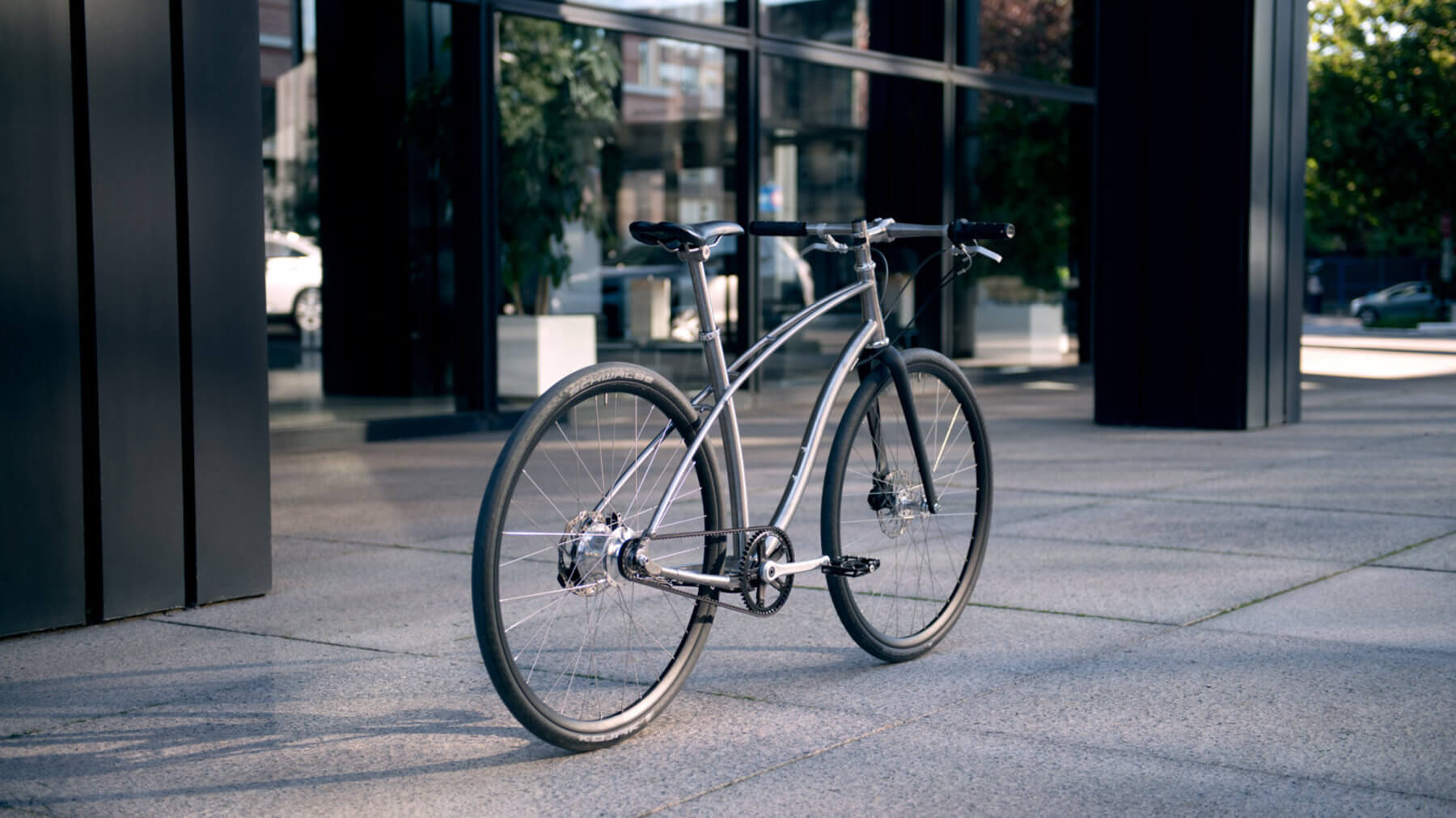 Budnitz Bicycles city bike with carbon drive