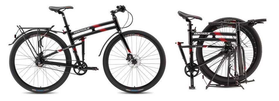 Folding bikes with belt drive