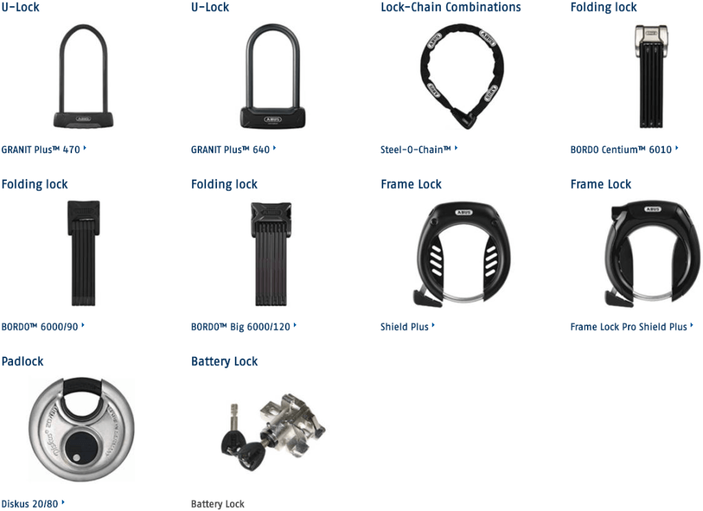 Your Plus System ABUS Bicycle Locks