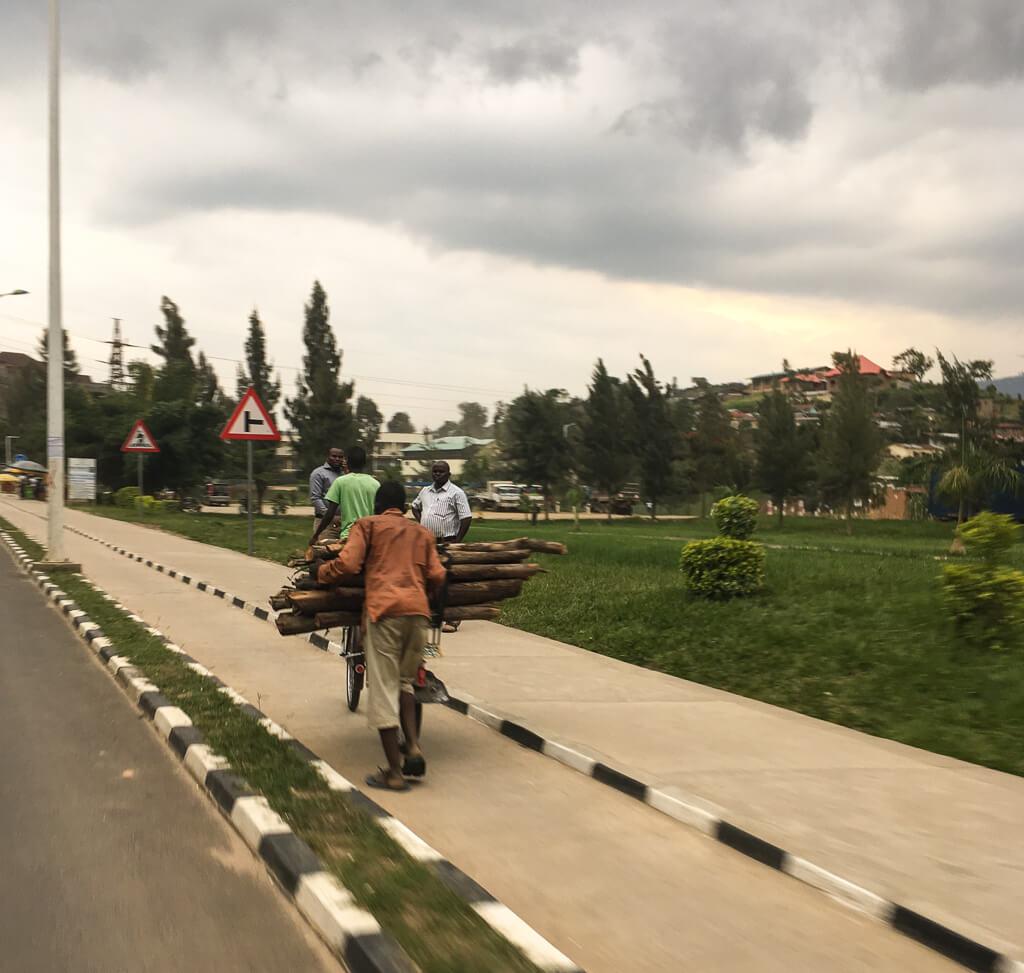 bicycling in Rwanda
